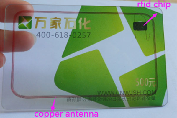 RFID HF copper antenna card