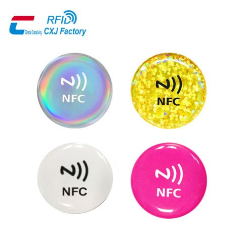 NFC sticker for social media