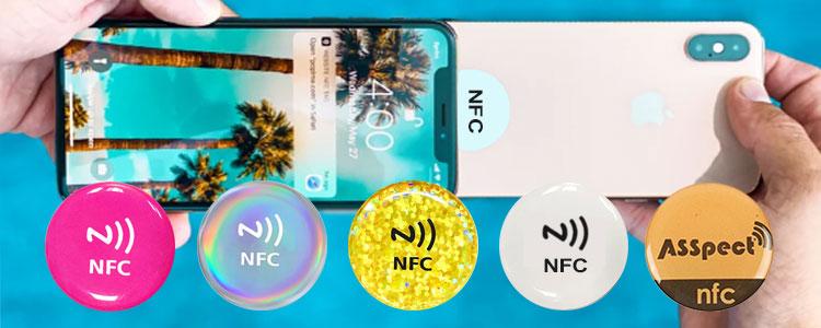 social media NFC sticker