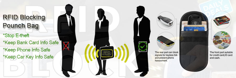 Custom logo RFID blocking bag